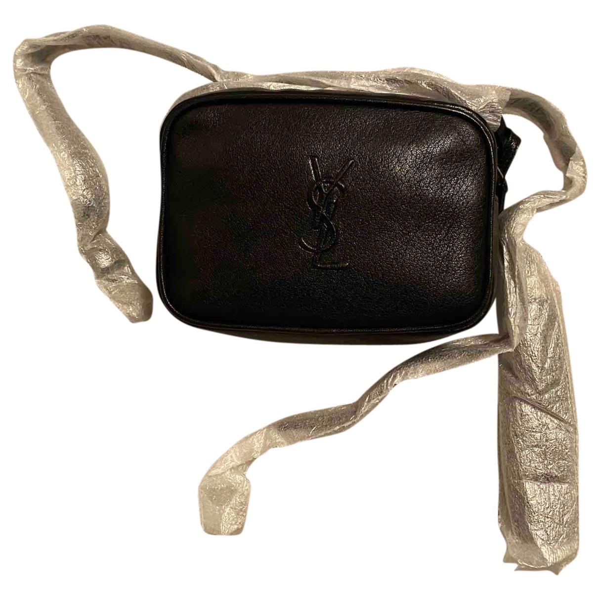 Saint Laurent Belt Bag Clutch in  Schwarz Leder