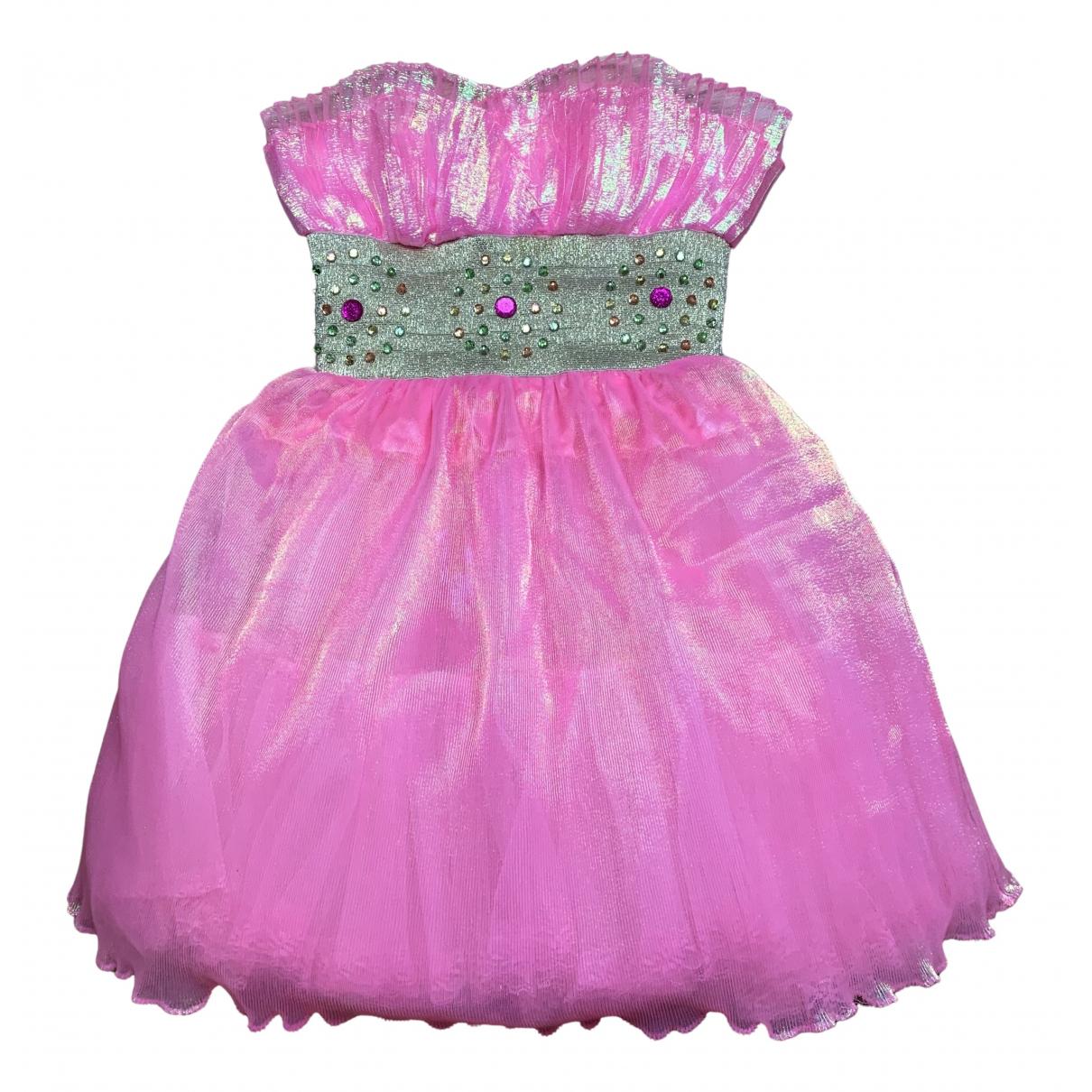 Manoush - Robe   pour femme en a paillettes - rose