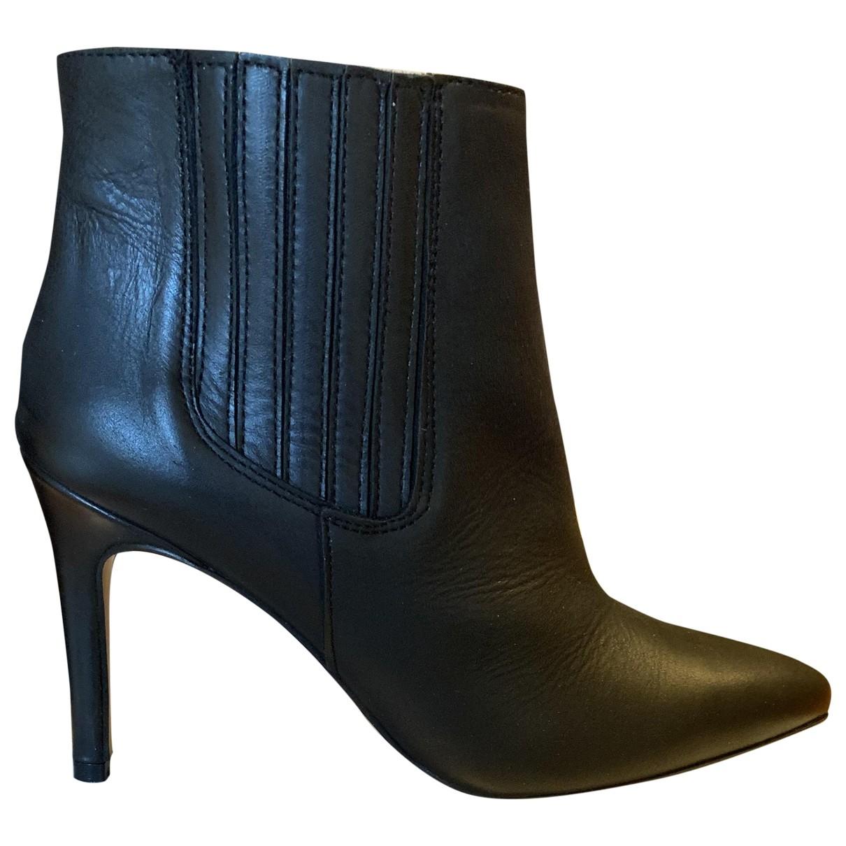 Apologie - Boots   pour femme en cuir - noir