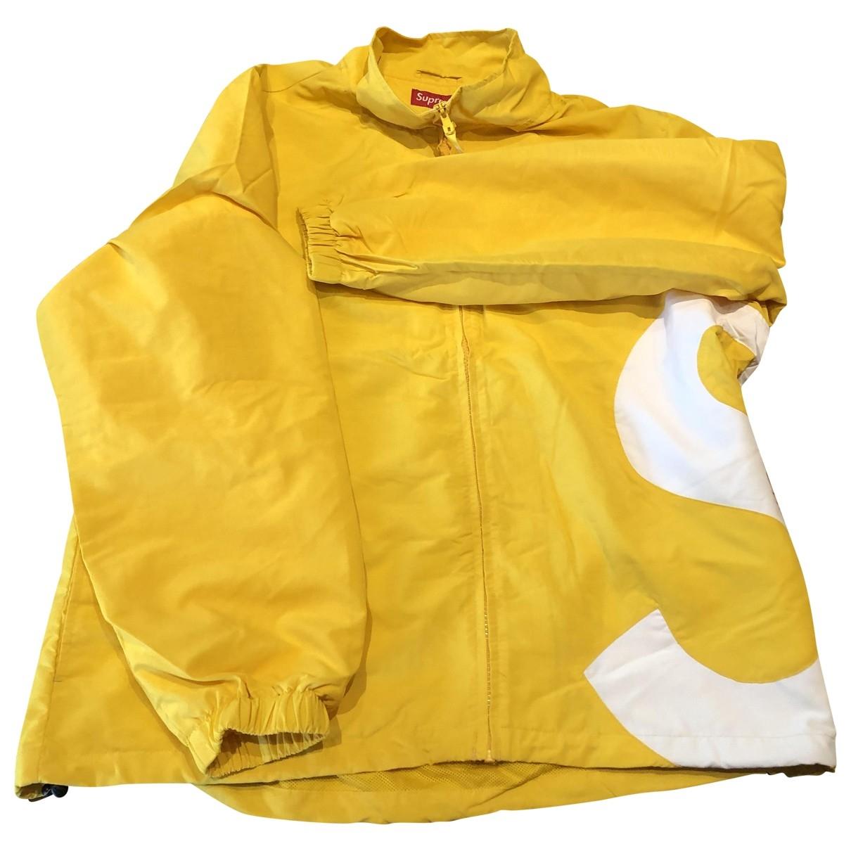 Supreme \N Jacke in  Gelb Synthetik