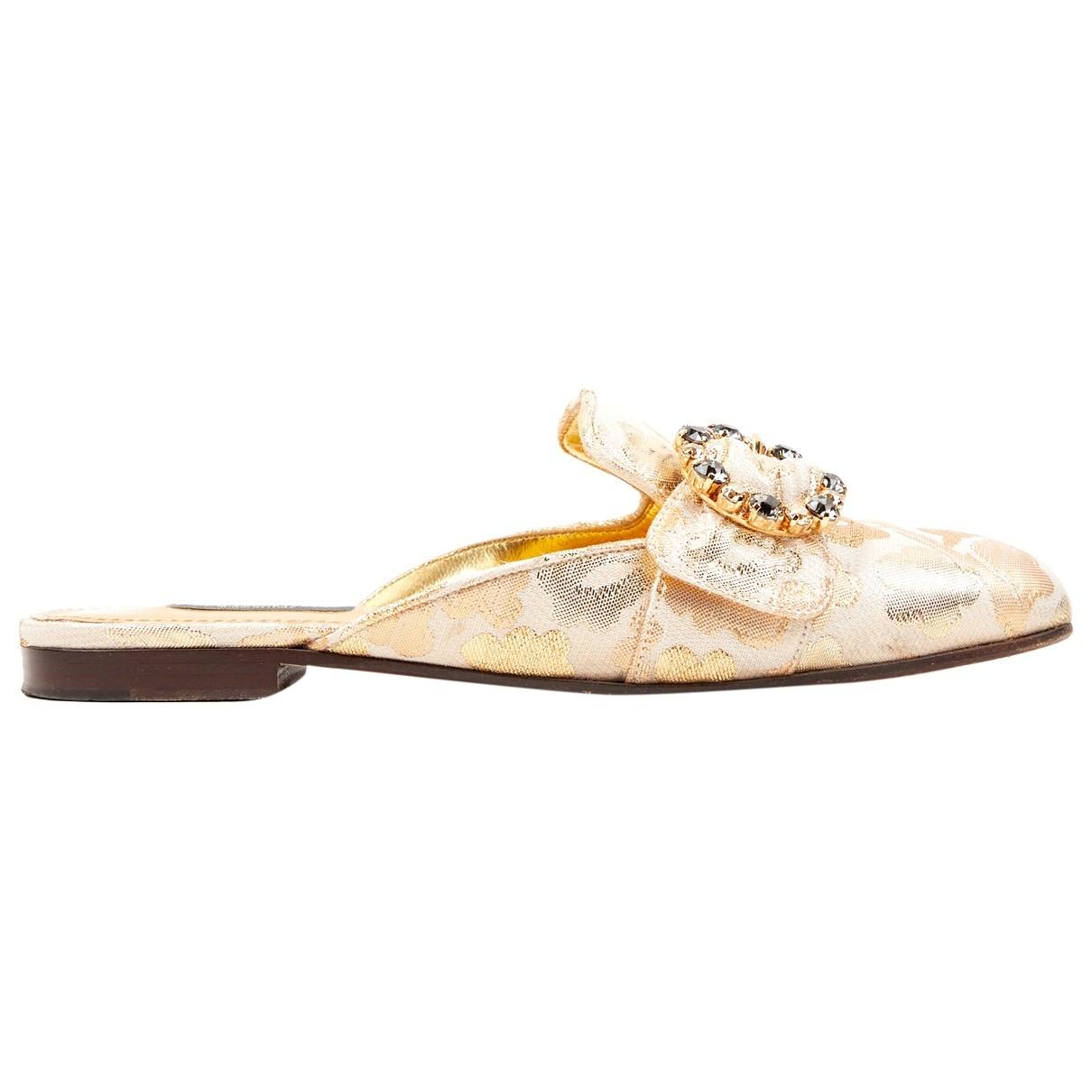 Dolce & Gabbana \N Gold Cloth Mules & Clogs for Women 36.5 EU