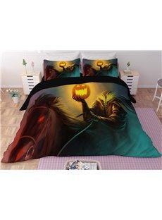 Headless Monster and Pumpkin Lantern Printing Halloween 3-Piece 3D Bedding Sets/Duvet Covers