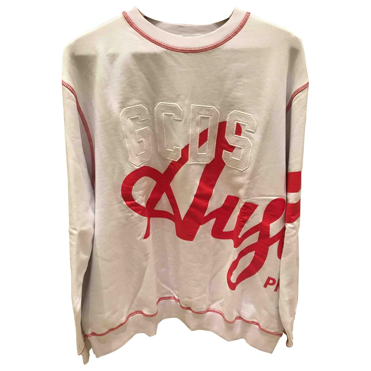 Gcds \N Pullover.Westen.Sweatshirts  in  Weiss Baumwolle