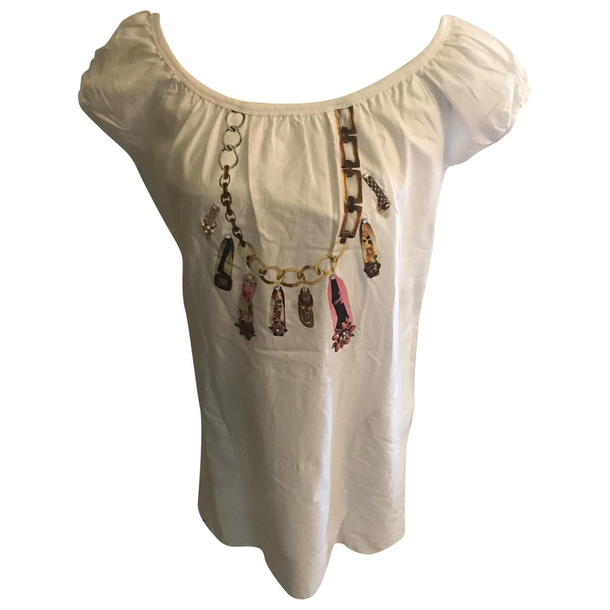 Maliparmi \N White Cotton dress for Women 42 IT
