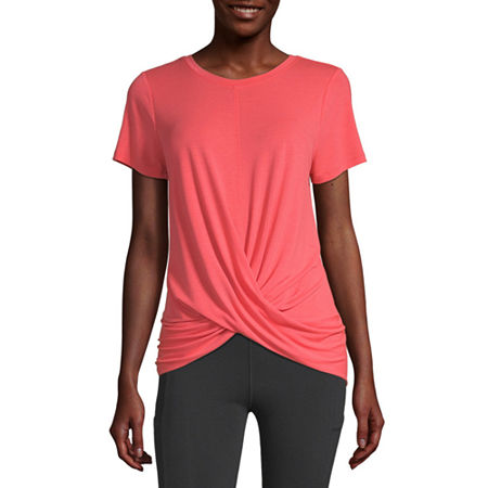 Xersion Womens Crew Neck Short Sleeve T-Shirt, X-large , Red
