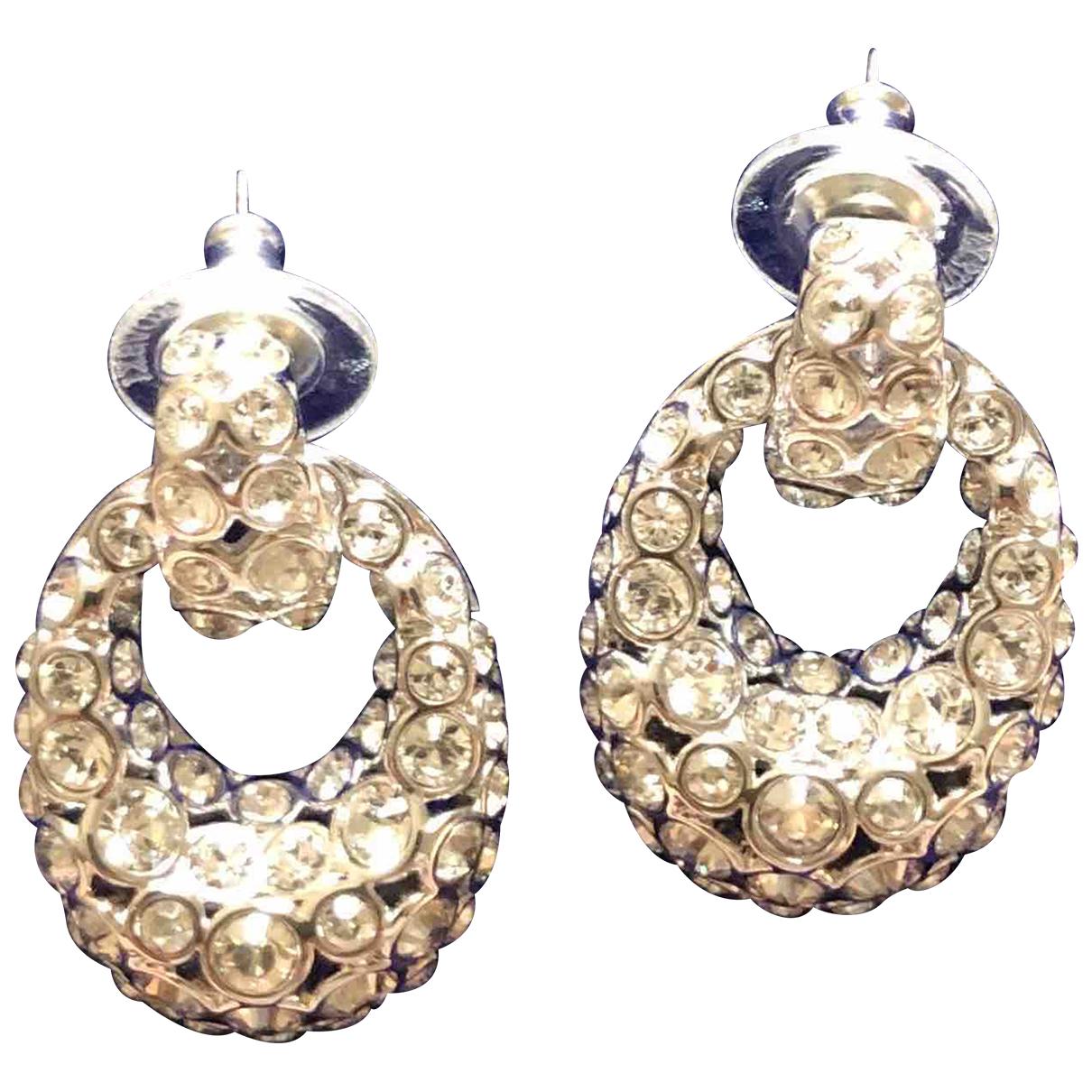 Swarovski N Silver Metal Earrings for Women N
