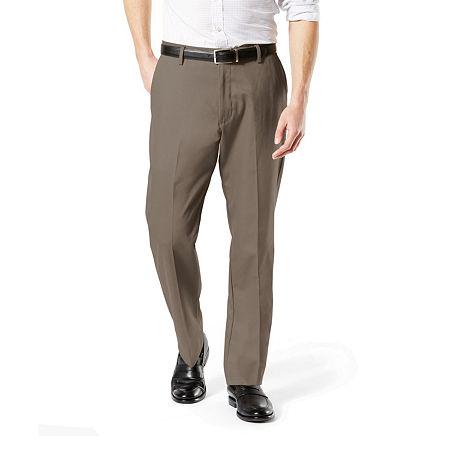 Dockers Men's Classic Fit Signature Khaki Lux Cotton Stretch Pants D3, 32 29, Brown