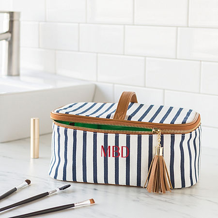 Cathy's Concepts Personalized Striped Toiletry Bag, One Size , Multiple Colors