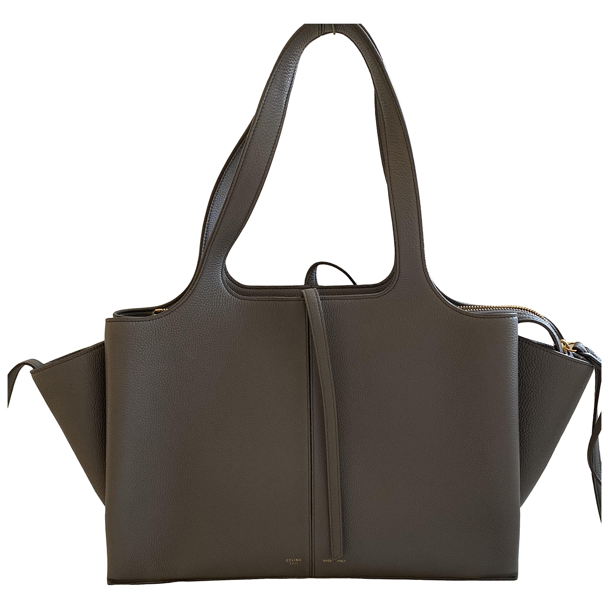 Celine Tri-Fold Grey Leather handbag for Women \N