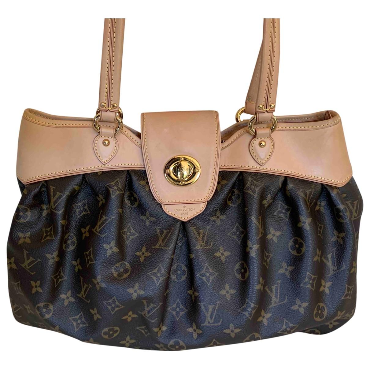 Louis Vuitton Boetie Handtasche in  Braun Leinen
