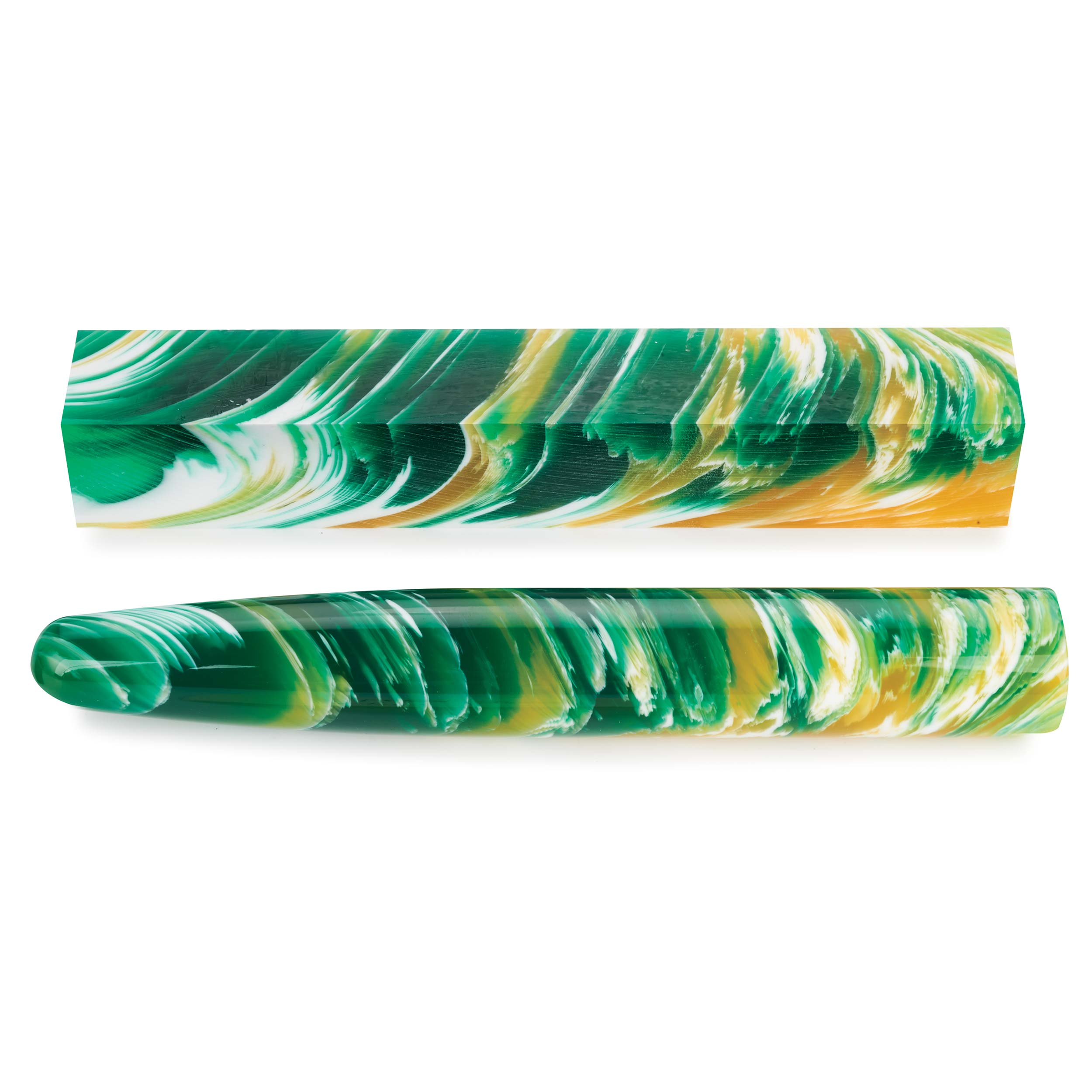 Acrylic Poly Resin Pen Blank - Lemon Grass
