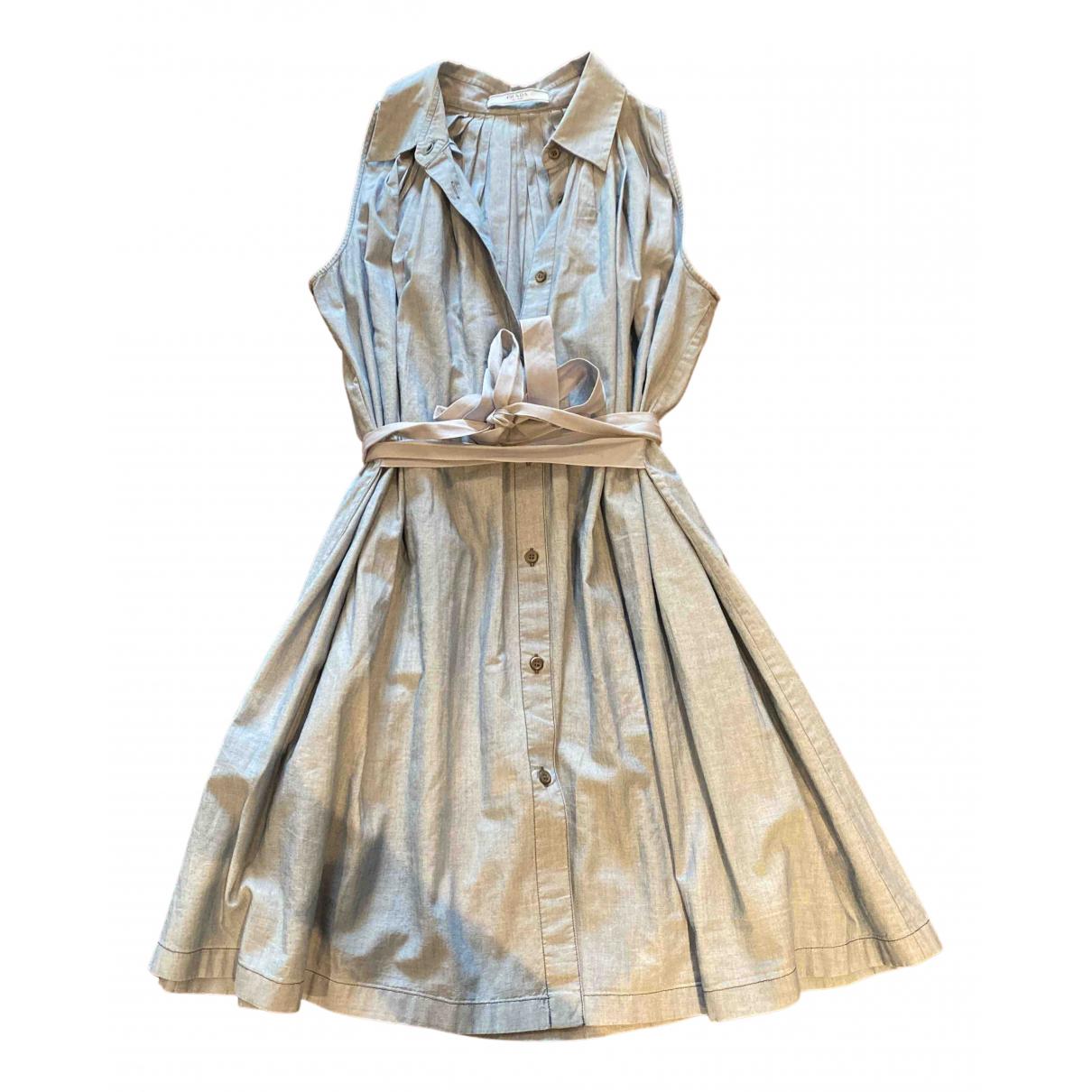 Prada \N Kleid in  Blau Baumwolle