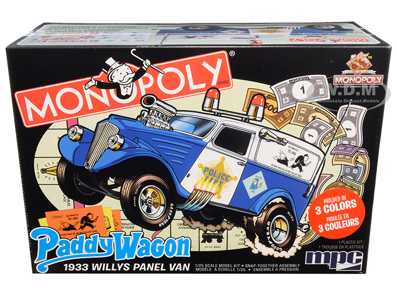 Skill 2 Snap Model Kit 1933 Willys Panel Paddy Wagon Police Van