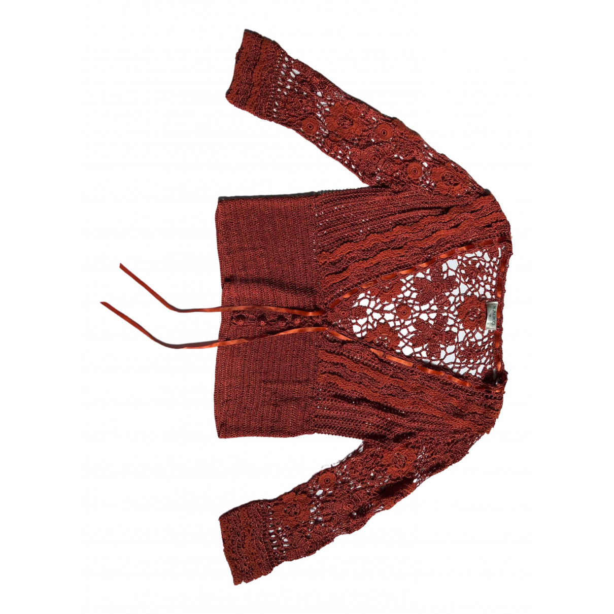 Non Signé / Unsigned \N Orange Knitwear for Women 10 UK