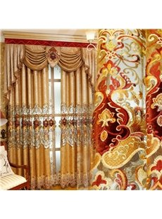 Noble and Elegant Soft Chenille Custom Decorative Living Room Window Drape