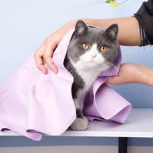 1 pieza toalla absorbente de secado rapido para gato