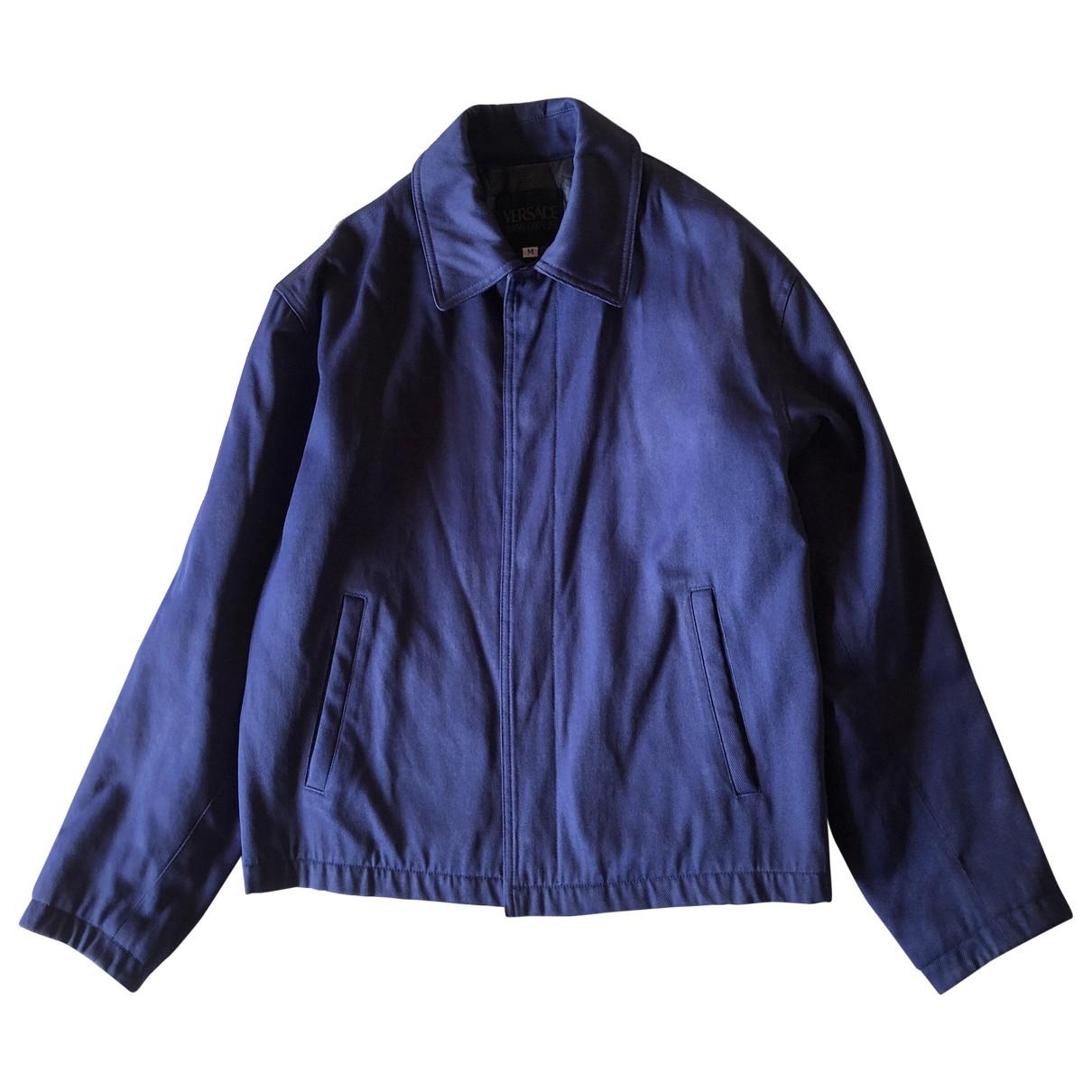 Versace Jeans \N Jacke in  Blau Polyester