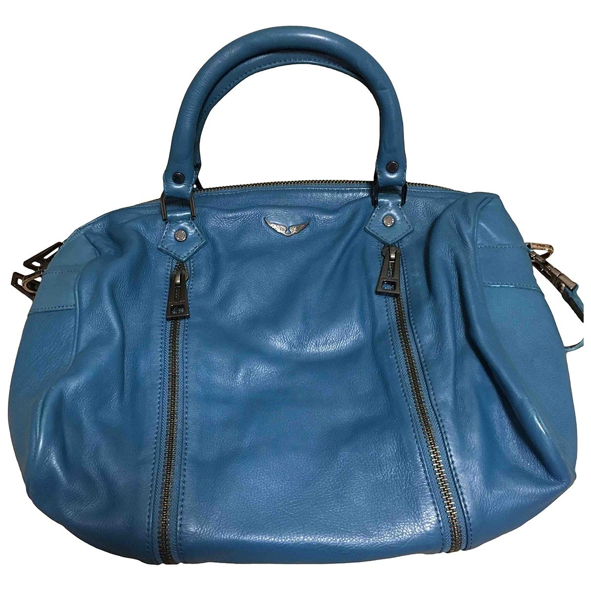 Zadig & Voltaire Sunny Blue Leather handbag for Women \N