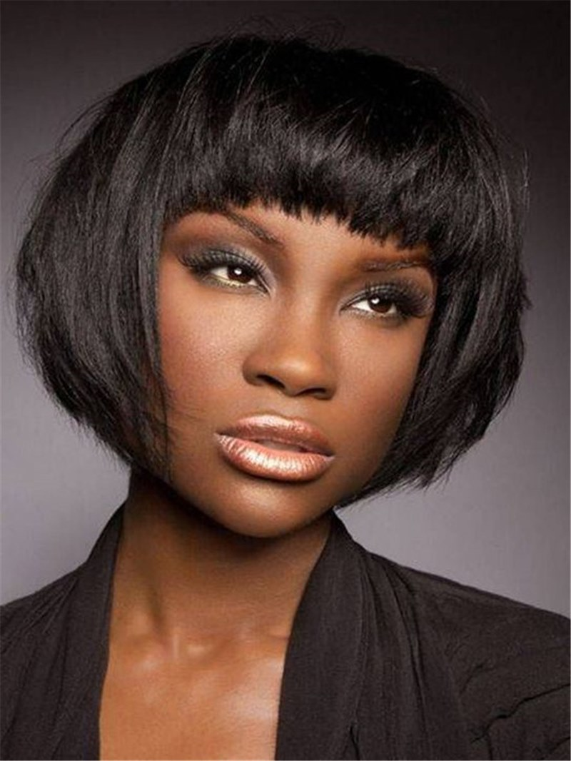 Ericdress Bob Style Women's Straight Synthetic Hair Wigs Natural Looking Capless Wigs 10inch