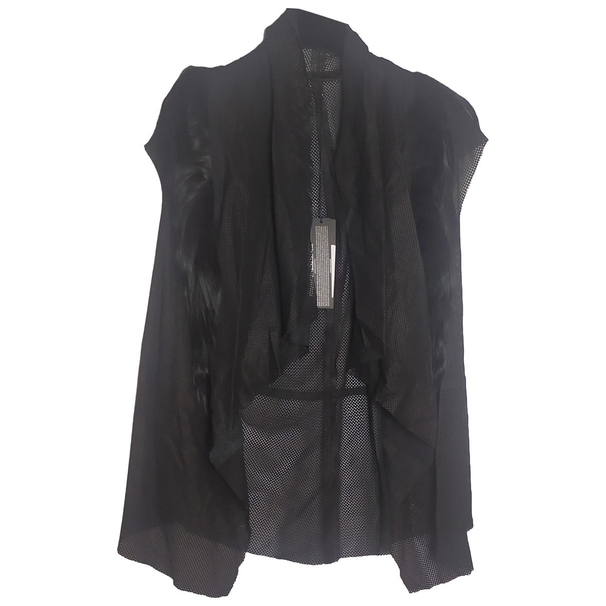 Drome - Top   pour femme en cuir - noir