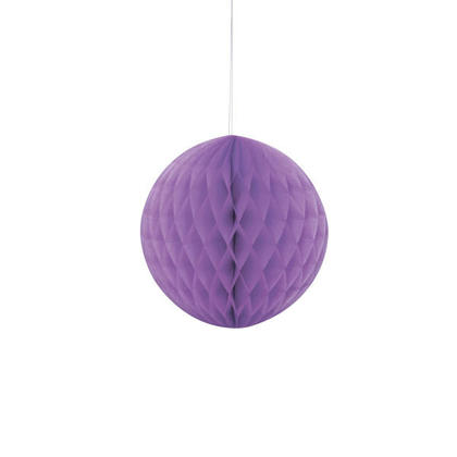Honeycomb Paper Ball for Party Decoration 8'' - Pretty Purple