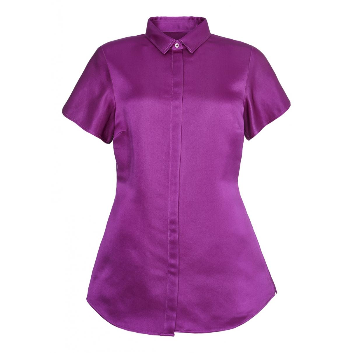 Burberry - Top   pour femme en soie - violet