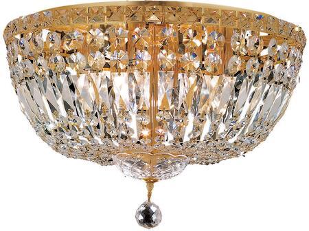 V2528F18G/SS 2528 Tranquil Collection Flush Mount D:18In H:11In Lt:8 Gold Finish (Swarovski   Elements