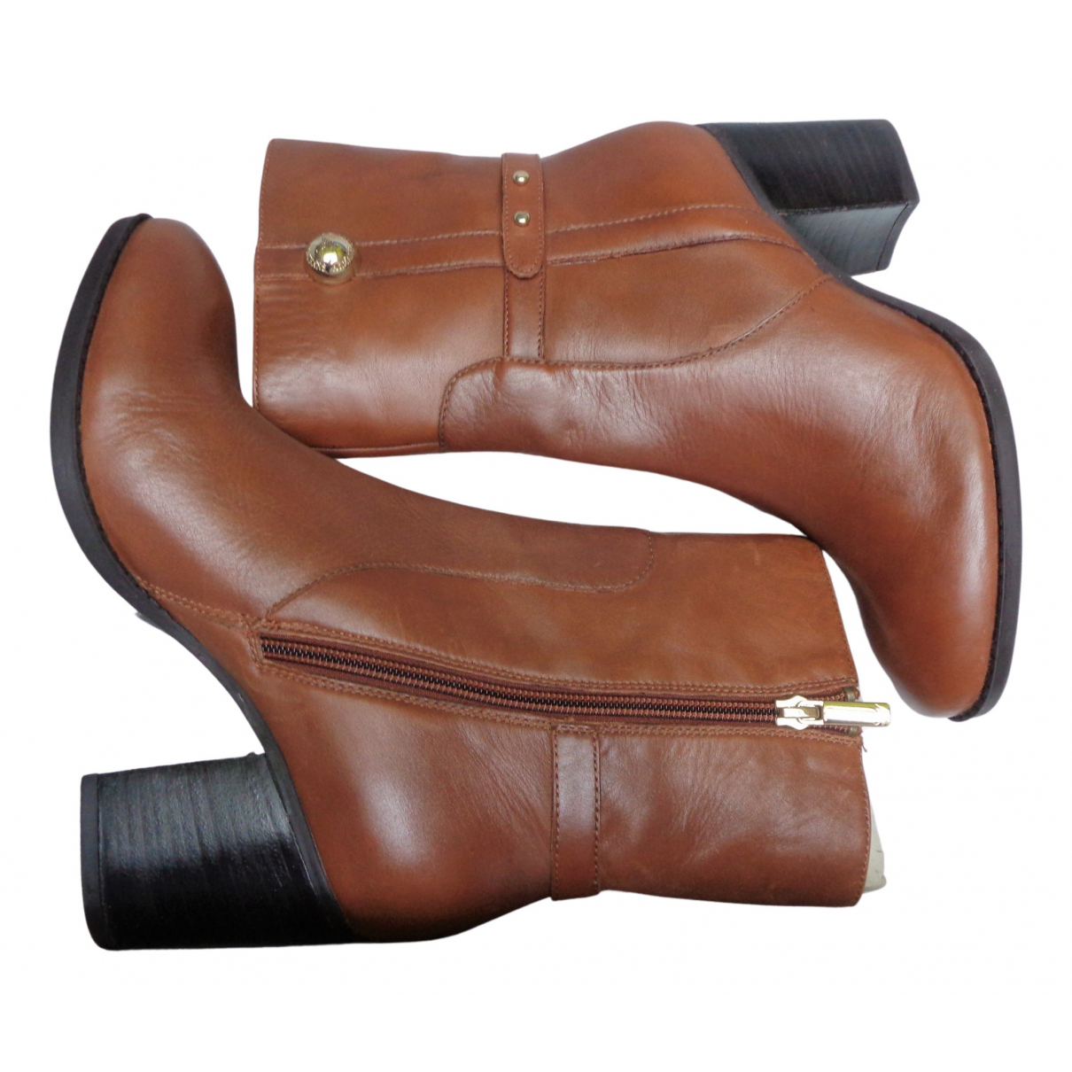 Armani Jeans \N Stiefel in  Kamel Leder