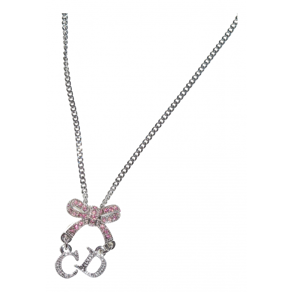 Dior N Silver Metal necklace for Women N