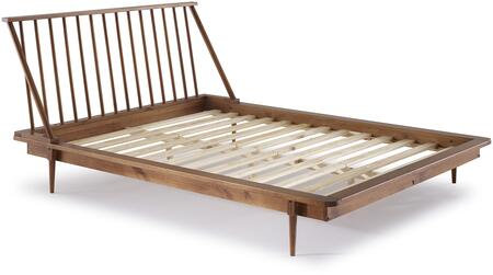 BQSPINCA Modern Wood Queen Spindle Bed in