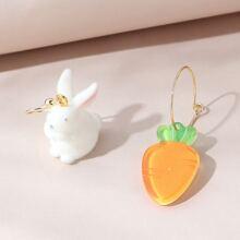 Ohrringe mit Hase und Karotte Design