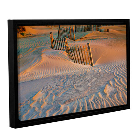 Brushstone Dune Patterns II Gallery Wrapped Floater-Framed Canvas Wall Art, One Size , White
