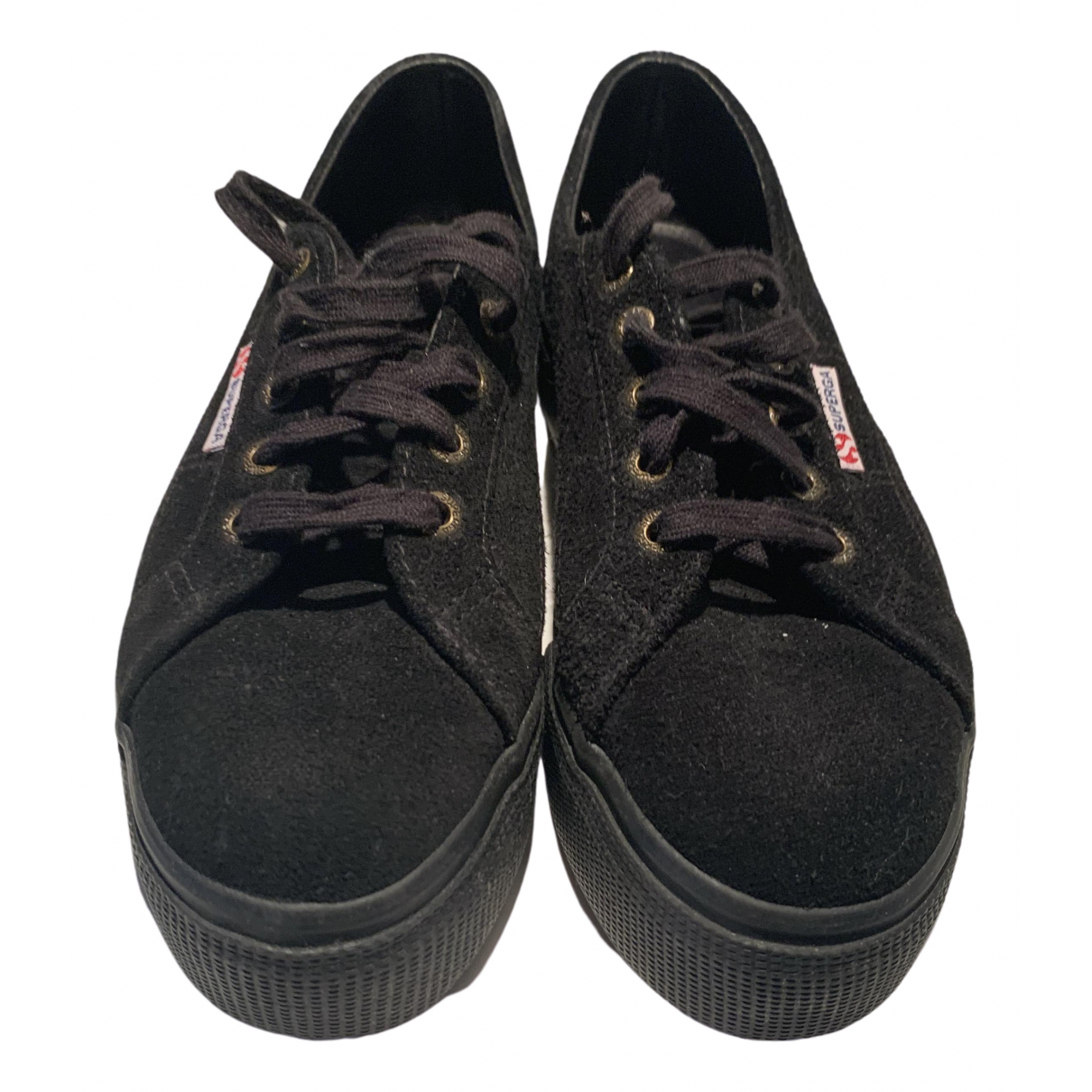 Superga \N Black Suede Trainers for Women 38 IT