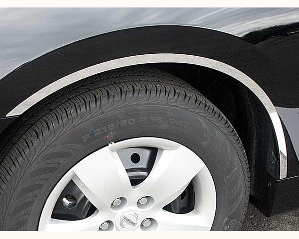 Quality Automotive Accessories 4-Piece Stainless Steel Wheel Well Fender Trim Kit Nissan Altima 2007