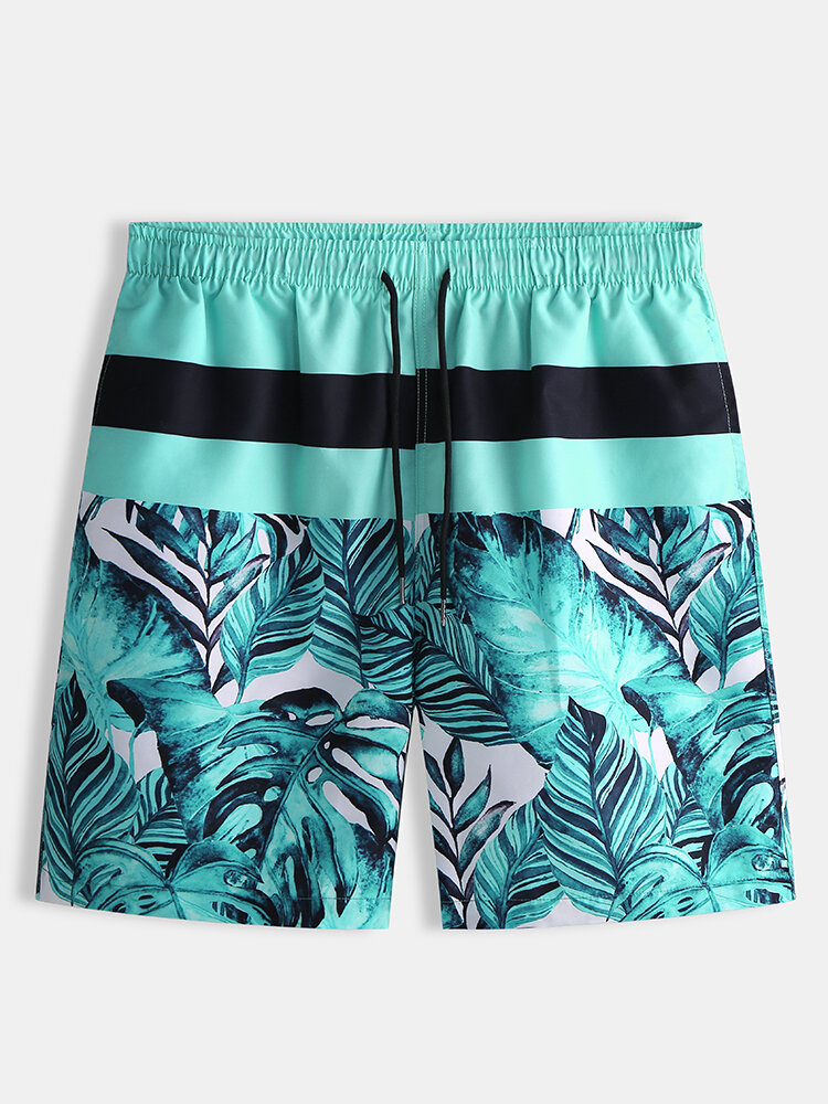 Men Water Resistant Holiday Beach Board Shorts Casual Floral Printing Casual Shorts