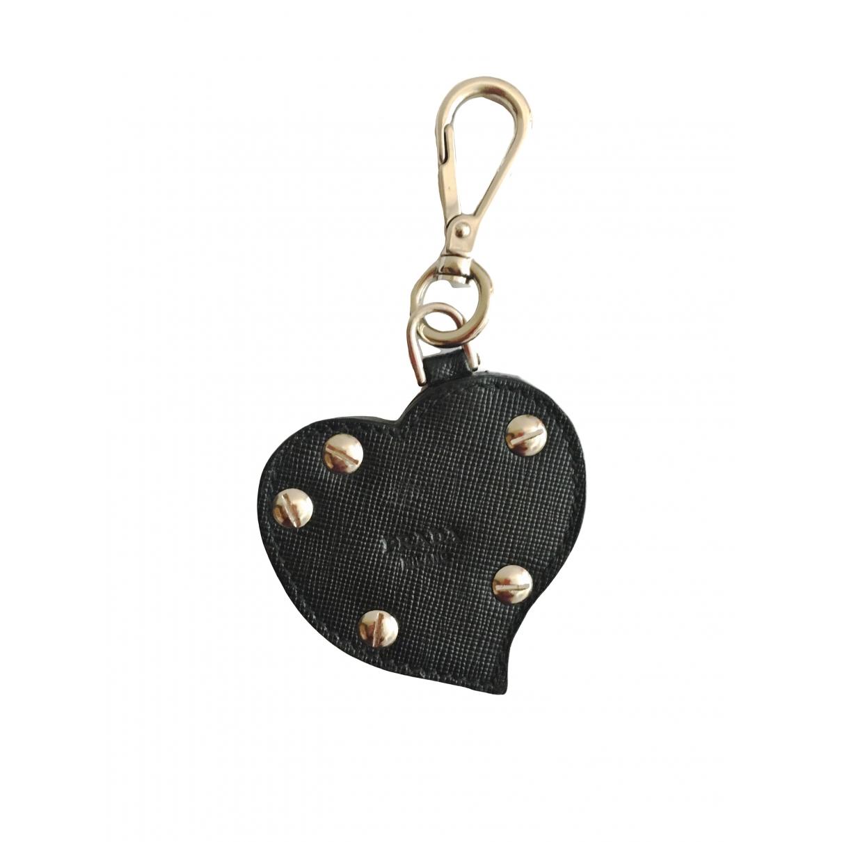 Prada - Pendentif   pour femme en cuir - noir