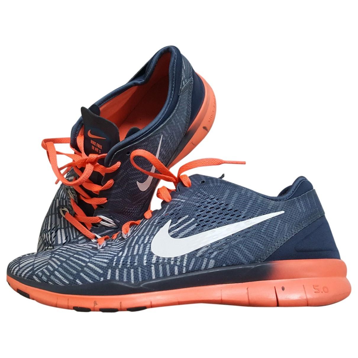 Nike Free Run Blue Cloth Trainers for Women 40 EU