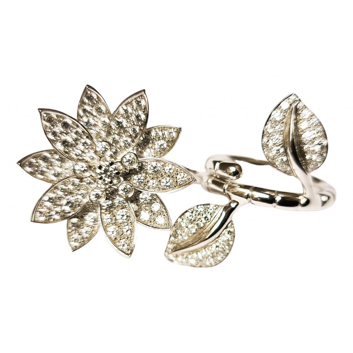 Van Cleef & Arpels - Bague Fleurs pour femme en or blanc - blanc
