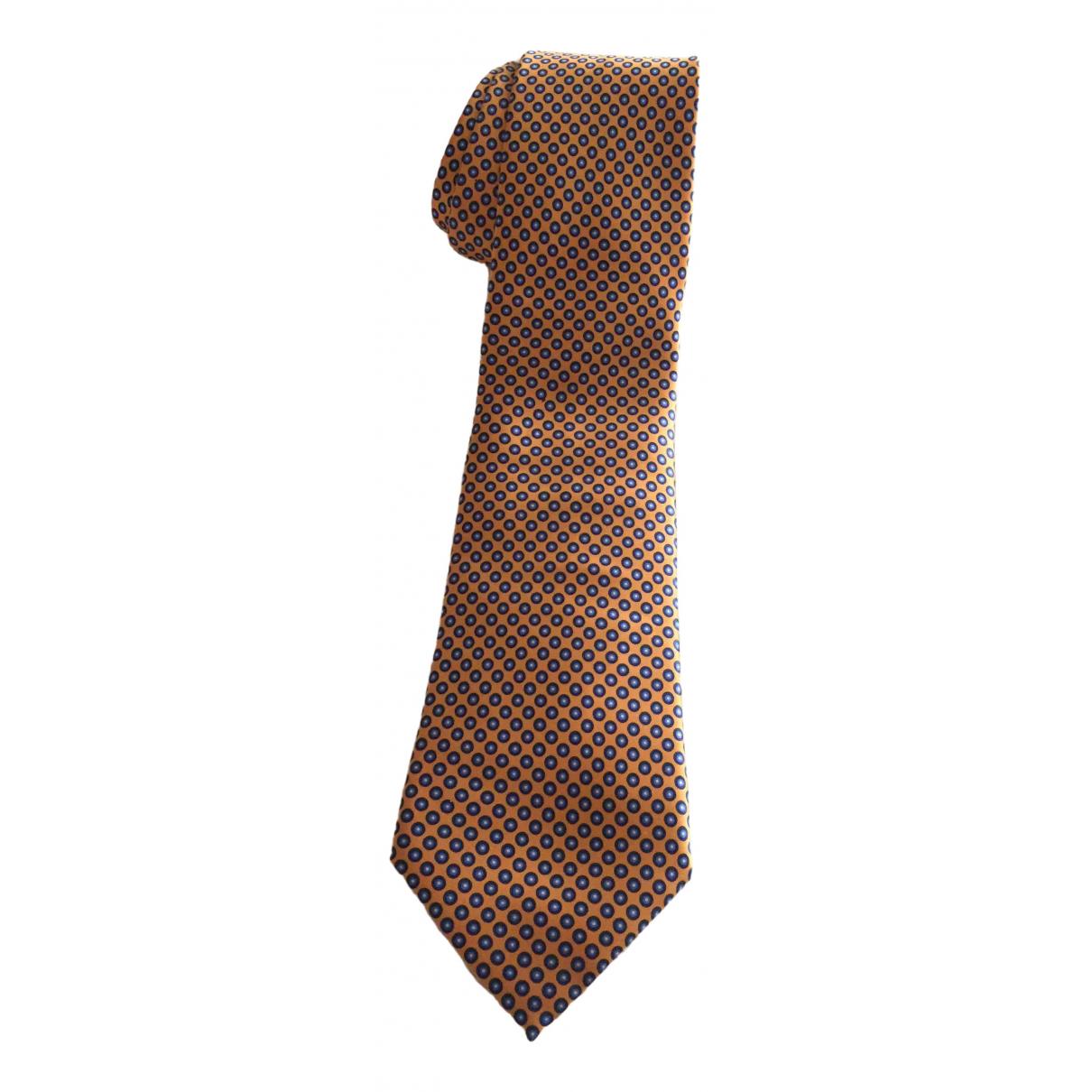 Brioni - Cravates   pour homme en soie - orange