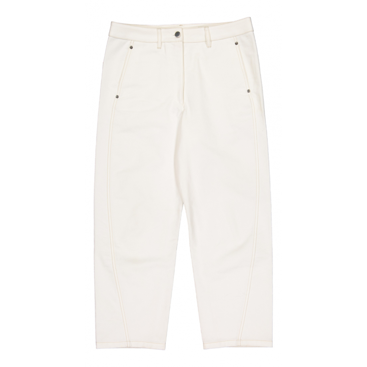 Lemaire \N Ecru Cotton Jeans for Women 40 FR