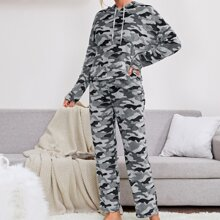 Flanell Lounge Set mit Camo Muster