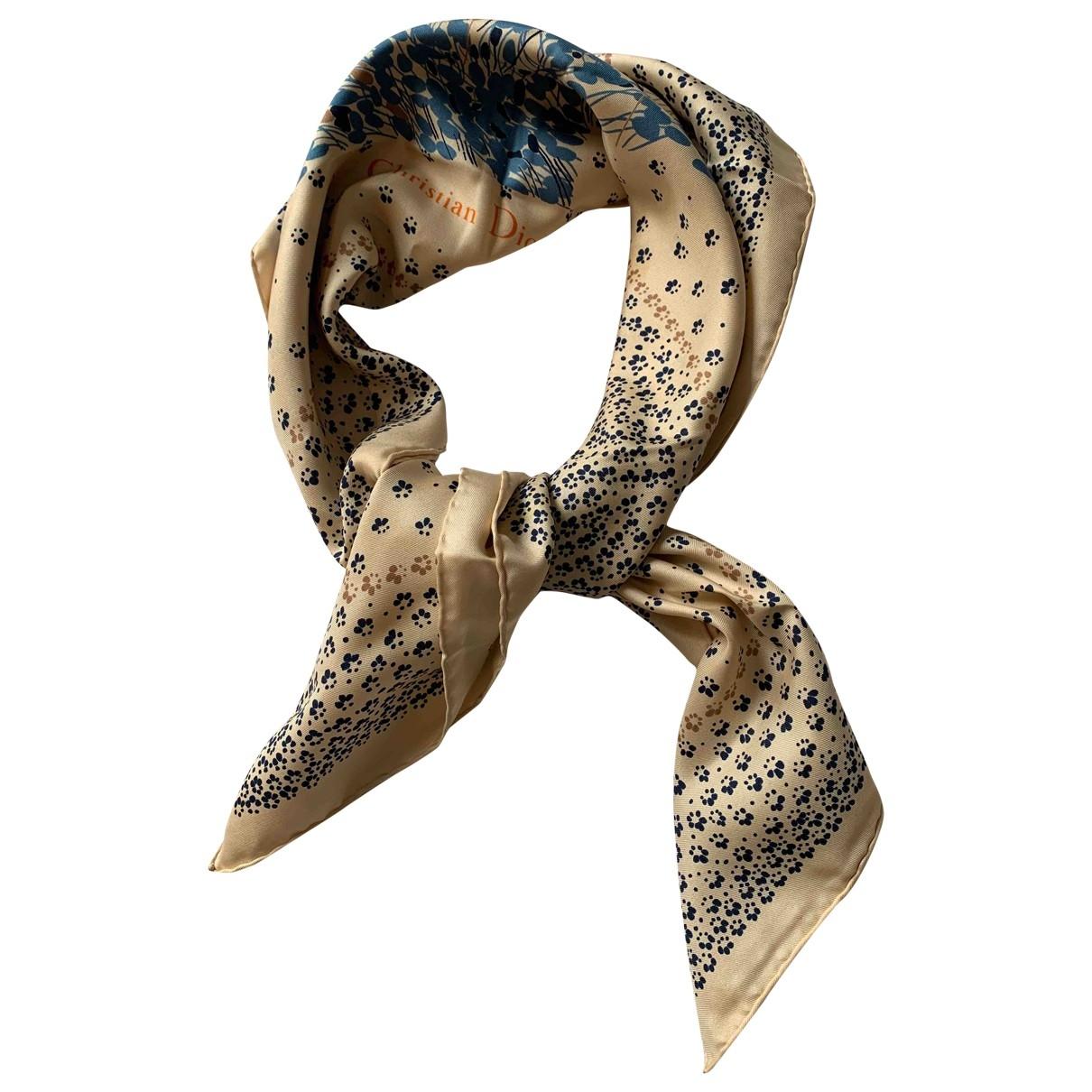 Dior \N Ecru Silk Silk handkerchief for Women \N