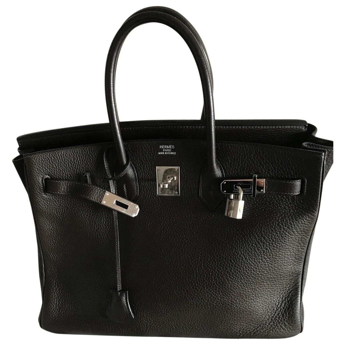 Hermes Birkin 35 Handtasche in  Braun Leder