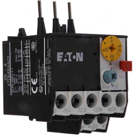 Eaton Overload Relay - NO/NC, 2.4 ? 4 A F.L.C, 4 A Contact Rating, 6 W, 600 V ac