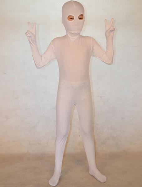Milanoo Disfraz Halloween Zentai blanco de elastano de marca LYCRA de estilo atractivo Halloween