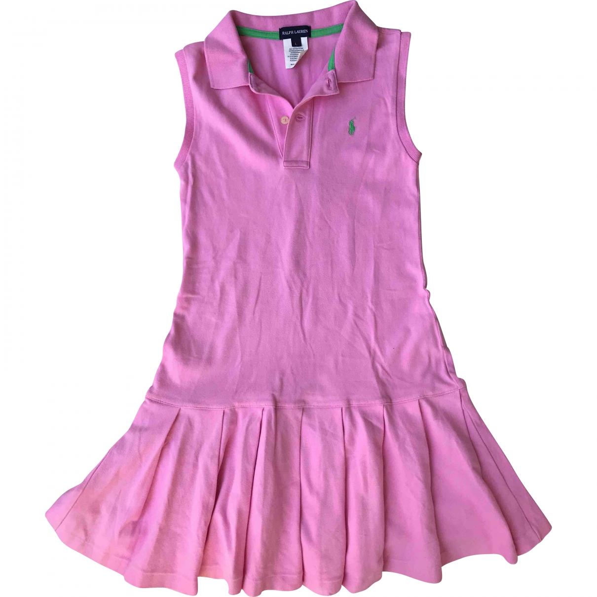 Polo Ralph Lauren - Robe    pour enfant en coton - elasthane - rose