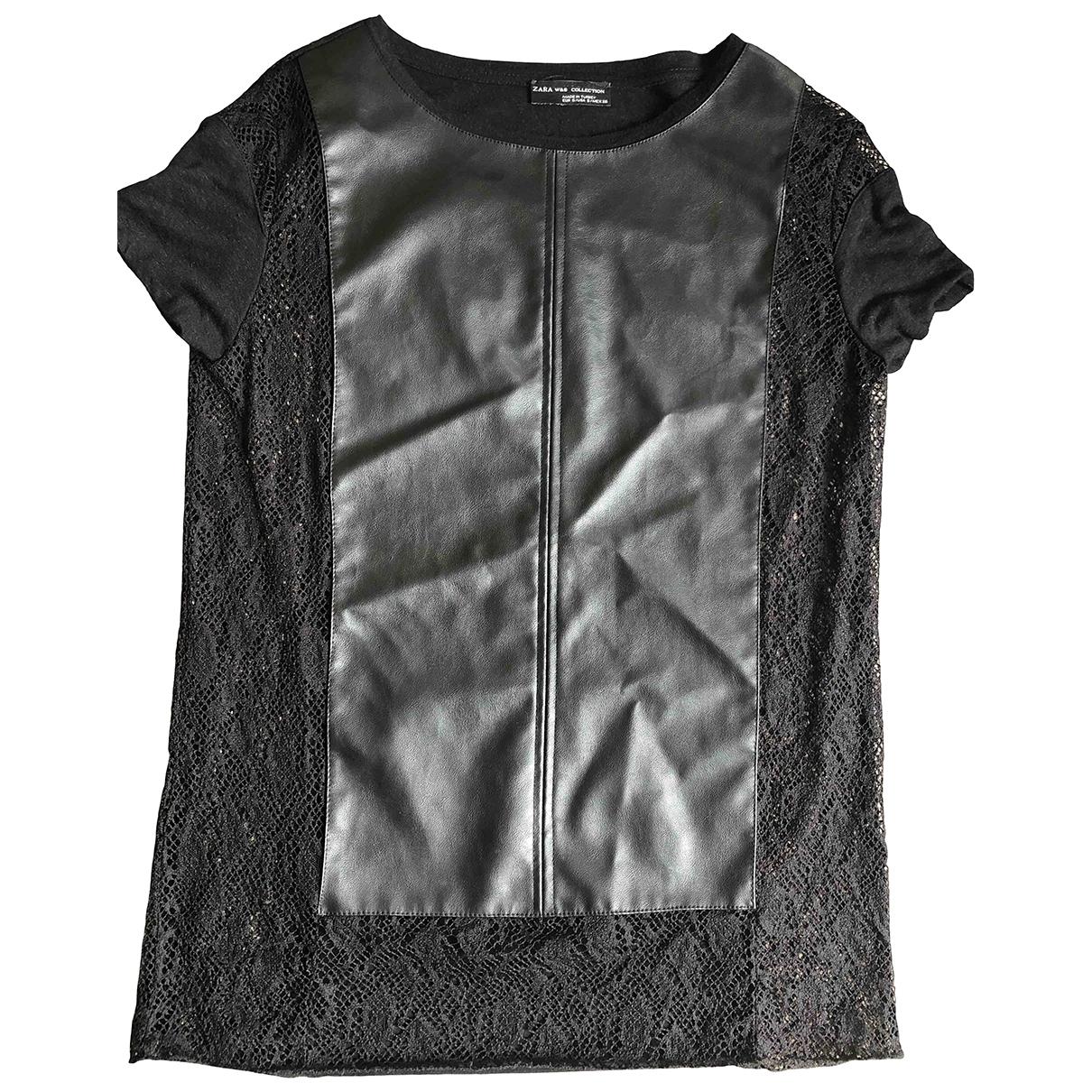 Zara - Top   pour femme en dentelle - noir