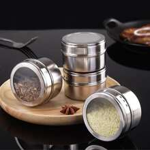 1pc Stainless Steel Seasoning Box