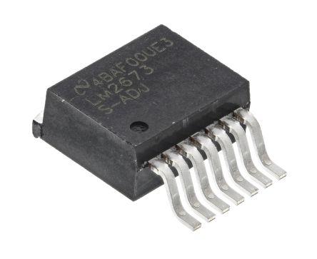 Texas Instruments , LM2673S-ADJ/NOPB Step-Down Switching Regulator, 1-Channel 3A Adjustable 7-Pin, D2PAK
