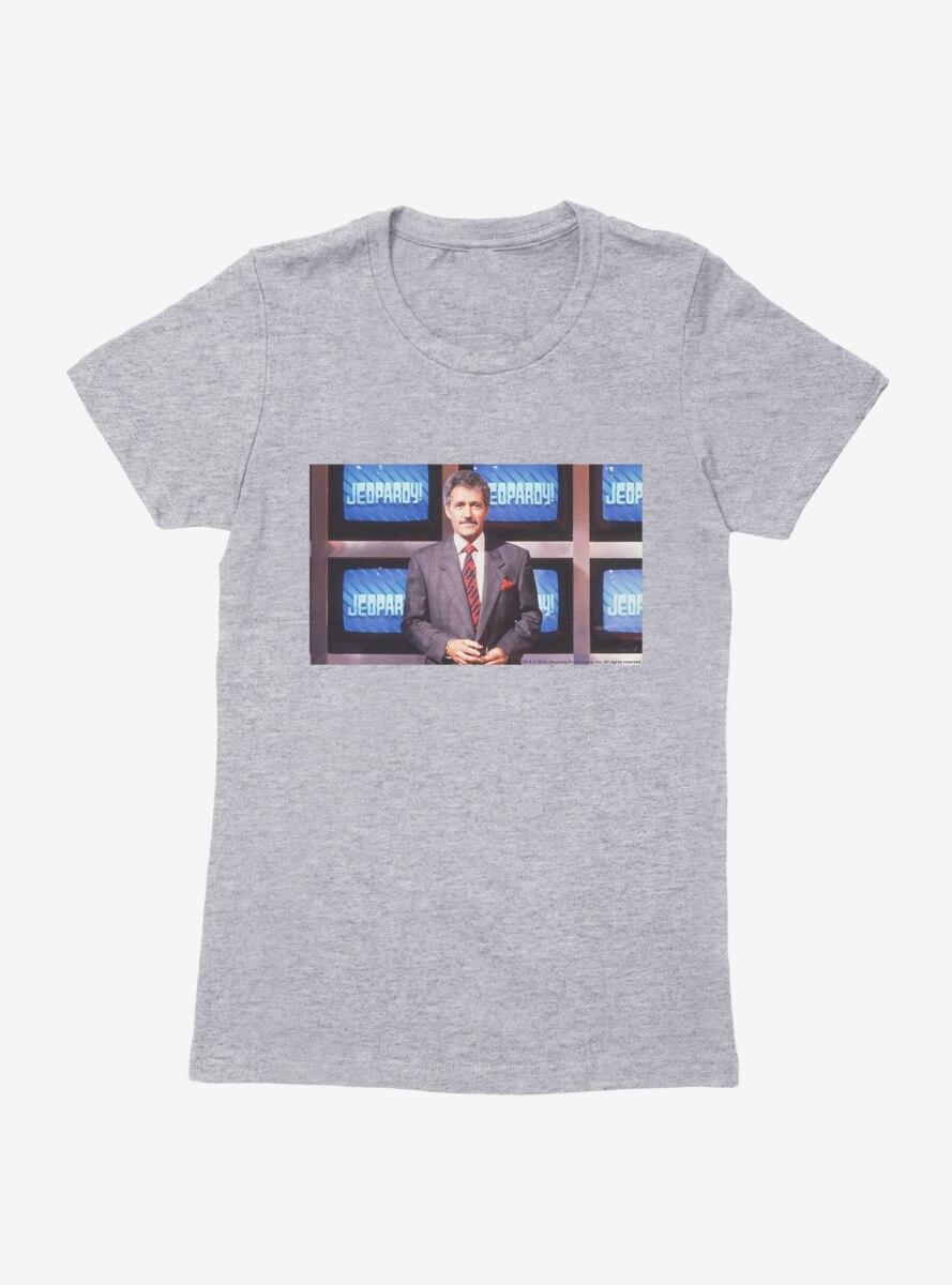Jeopardy! Alex Trebek Womens T-Shirt